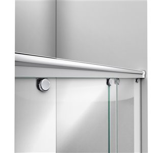 DreamLine Charisma Shower Door and Base - 60-in - Chrome/White