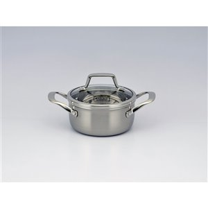 KUCHT Culinary Professional 3-Ply Stainless Steel 10 Piece Cookware Set