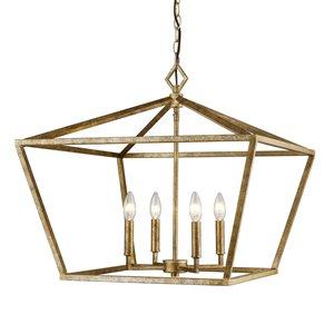 Millennium Lighting 4 Light Pendant - Vintage Gold