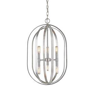 Millennium Lighting 6 Light Pendant - Bushed Nickel