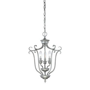 Millennium Lighting 3 Light Fulton Pendant - Rubbed Silver
