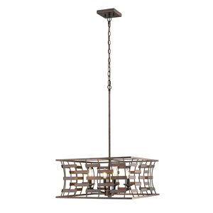 Millennium Lighting 4 Light Pendant- Oil-Rubbed Bronze