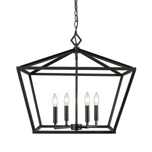 Millennium Lighting 4 Light Pendant - Matte Black
