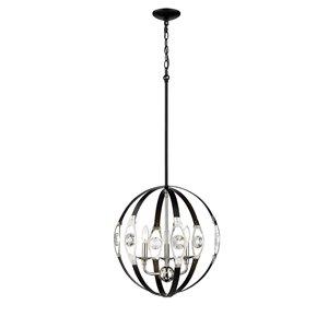 Millennium Lighting 3 Light Pendant - Matte Black