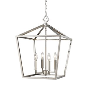 Millennium Lighting 4 Light Pendant - Satin Nickel