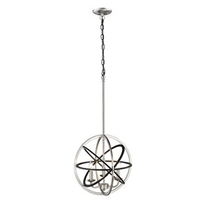 Millennium Lighting 3 Light Pendant - Matte Black and Brushed Nickel