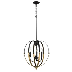 Millennium Lighting 3 Light Pendant - Matte Black