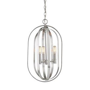 Millennium Lighting 3 Light Pendant - Brushed Nickel