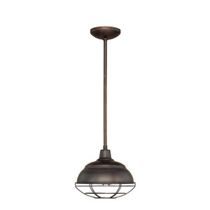 Millennium Lighting 1 Light Neo-Industrial Mini-Pendant - Oil-Rubbed Bronze