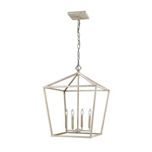 Millennium Lighting 4 Light Pendant - Vintage White