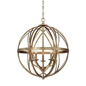 Millennium Lighting 5 Light Lakewood Pendant - Vintage Gold