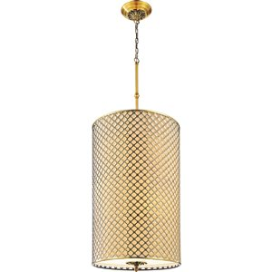 CWI Lighting Gloria 8 Light Drum Shade Chandelier with French Gold finish
