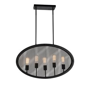 CWI Lighting Tigris 5 Light Up Pendant with Black finish