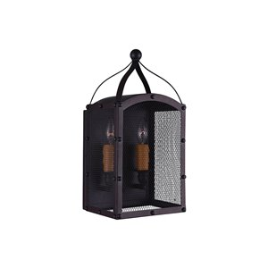 CWI Lighting Altair 2 Light Wall Sconce - Reddish Black finish
