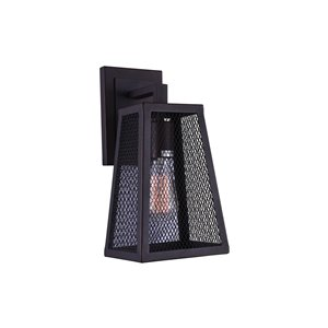CWI Lighting Alistaire 1 Light Wall Sconce - Reddish Black finish