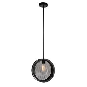 CWI Lighting Tigris 1 Light Up Pendant with Black finish