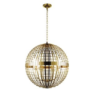 CWI Lighting Niya 6 Light  Chandelier with Gold finish