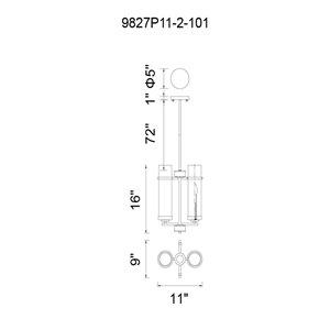 CWI Lighting Sierra 2 Light Up Mini Pendant with Black finish