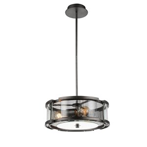 CWI Lighting Monroe 3 Light  Chandelier with Black Silver finish