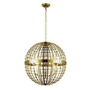 CWI Lighting Niya 5 Light  Chandelier with Gold finish