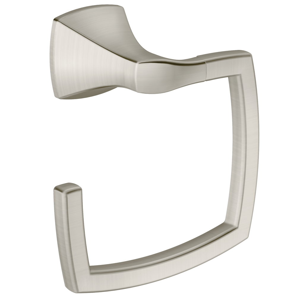 MOEN Voss Towel Ring - Brushed Nickel (330724124 YB5186BN) photo