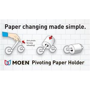 MOEN Weymouth Pivoting Toilet Paper Holder - Chrome
