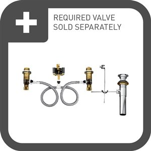 MOEN Kingsley Bathroom Faucet - Antique Wrought Iron (Valve Sold Separately)