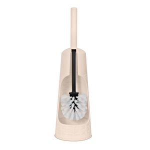 Superio Toilet Brush with Brush Holder - Beige
