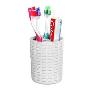 Superio Toothbrush and Toothpaste Holder - White