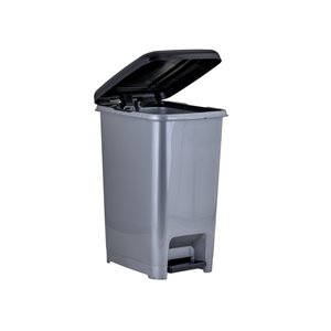 superio trash can - step lid - 13-in - 10-l - grey | lowe