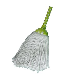 Superio Cotton String Mop with Green Handle