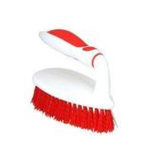 Superio Scrubbing Brush with Grip Handle - Red