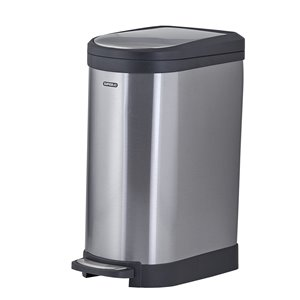 stainless steel trash can - 40 liter | lowe's canada