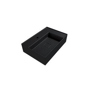 Cheviot Elevate Vessel Bathroom Sink - Fire Clay - 16.75-in x 24.37-in - Graphite