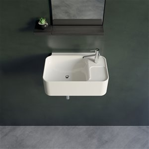 Cheviot Cruise Wall Mount Bathroom Sink - Vitreous China - 11.75-in x 15.75-in - White