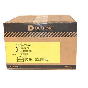 Duchesne Common Nails - Bright - 6-in - 50 lb