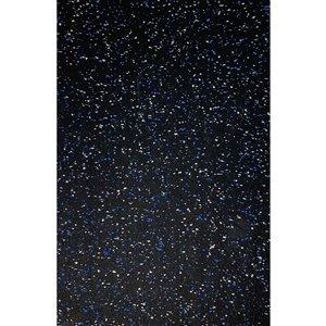 RubberMax Roll - Rubber Floor Tile - 600-in x 48-in - 200 sq ft - Black, flecked blue/gray