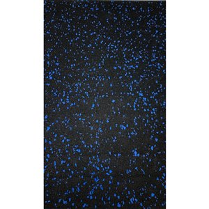 RubberMax Roll - Rubber Floor Tile - 600-in x 48-in - 200 sq ft - Black, flecked blue