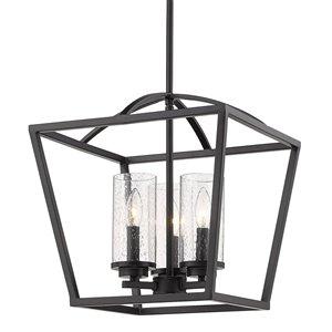 Golden Lighting Mercer 3-Light Pendant - Matte Black
