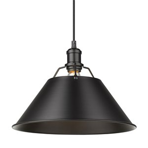 Golden Lighting Orwell 1-Light Pendant Light - Black
