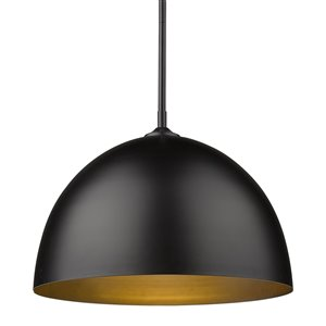Golden Lighting Zoey Large Pendant Light - Black