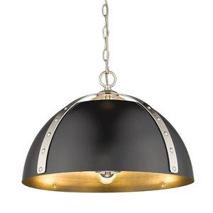 Golden Lighting Aldrich Pewter 3-Light Pendant Light - Grey