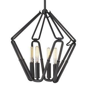 Golden Lighting Corbin 4-Light Pendant Light - Black