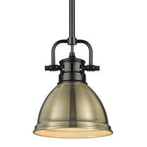 Golden Lighting Duncan Mini Pendant with Rod - Black