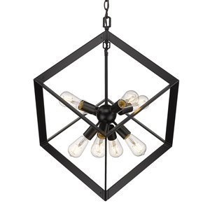 Golden Lighting Architect 8-Light Pendant Light - Black