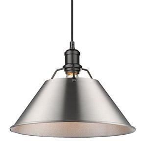 Golden Lighting Orwell 1-Light Pendant Light - Black