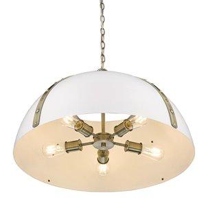 Golden Lighting Aldrich Aged Brass 5-Light Pendant Light - Gold