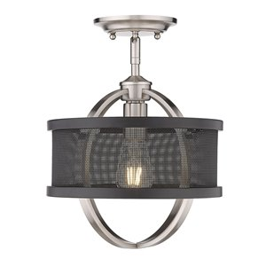 Golden Lighting Colson Mini Pendant Light - Pewter