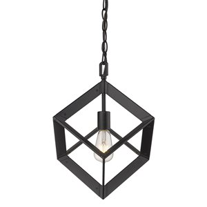 Golden Lighting Architect Mini Pendant Light - Black