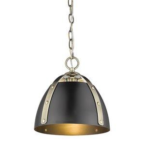 Golden Lighting Aldrich AB Small Pendant Light - Aged Brass